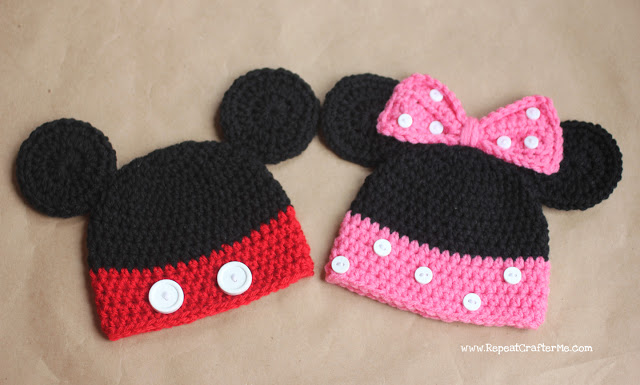 Cappellini Di Minnie E Mickey Mouse Alluncinetto Mammacraft